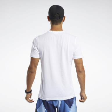 T-shirt Graphic Bianco Uomo Fitness & Training