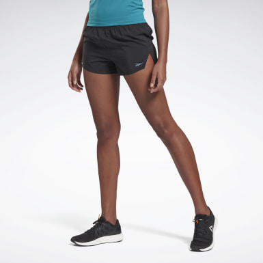 Women Running Black Run ACTIVCHILL 3-Inch Epic Shorts