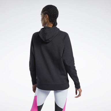 Women City Outdoor Black Quik Cotton Vector Hoodie