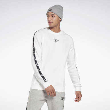 Men Fitness & Training White Training Essentials Tape Crew Sweatshirt
