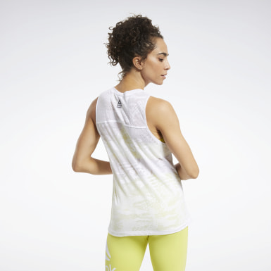 Women Training White CrossFit® Burnout Sleeveless Tee