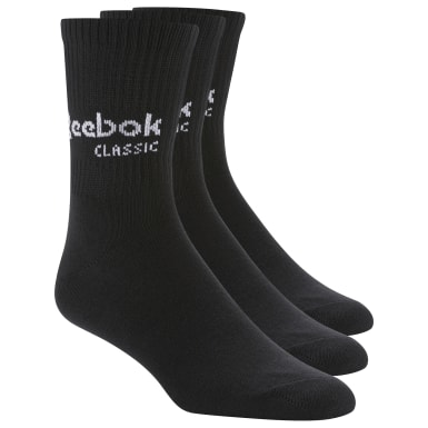 Classics Black Classics Core Crew Socks Three Pack