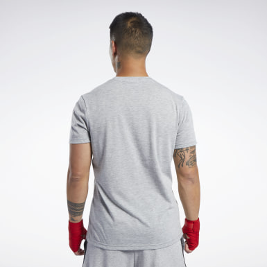 Men Combat Grey Combat Boxing Tee