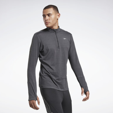 Men Running Black Running Essentials Quarter Zip