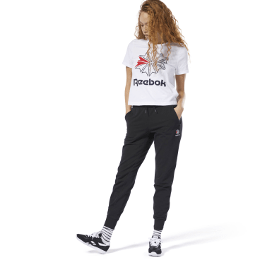 Women Classics Black Classics French Terry Pants