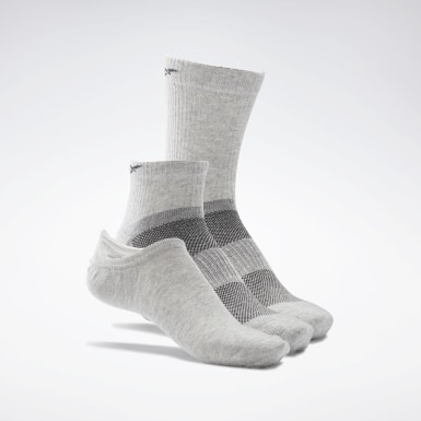 Chaussettes Active Foundation - 3 paires Gris Fitness & Training