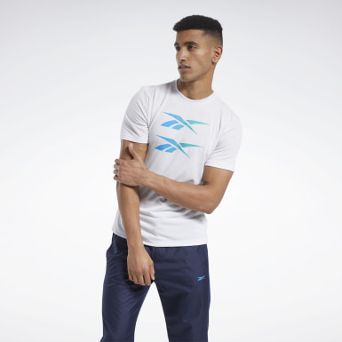 Men Fitness & Training White Tee
