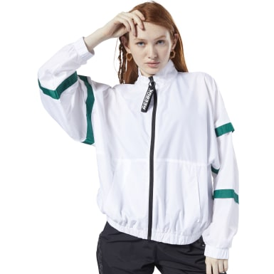 Women Fitness & Training White Meet You There Woven Jacket