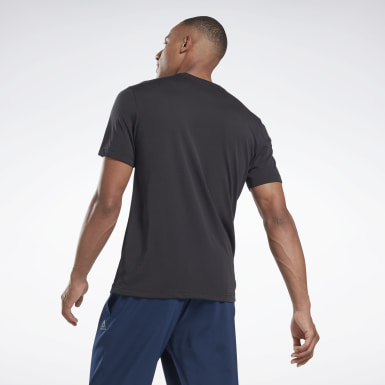Remera Graphic Series Speedwick Negro Hombre Fitness & Training