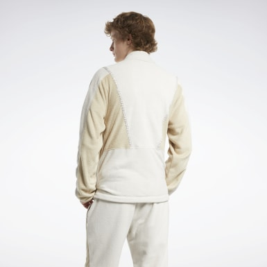 Men Classics White Classics Winter Escape Track Top