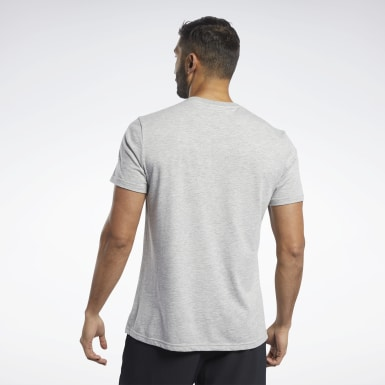 Männer Yoga Training Essentials Classic T-Shirt Grau