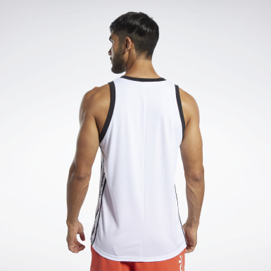 Men Training White Meet You There Basketball Tank Top