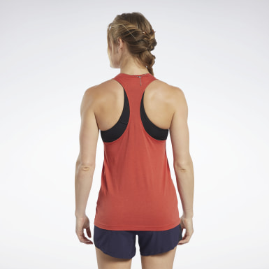 Women Pilates Red Training Essentials Easy Tank Top
