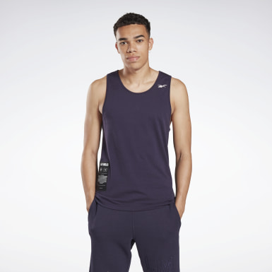 Men Studio Purple LES MILLS® Graphic Tank Top