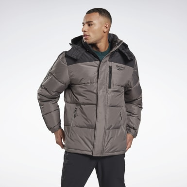 Men Hiking Black Winter Puffer Jacket