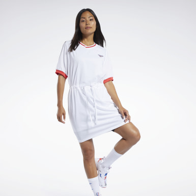Frauen Classics Classics Tennis Dress Weiß