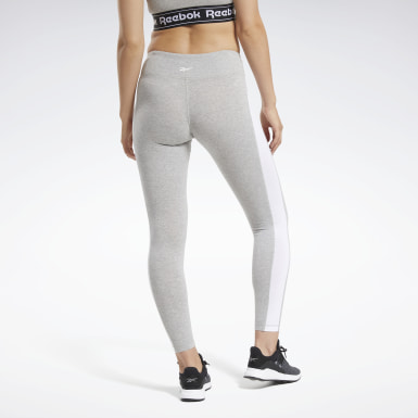 Leggings Training Essentials Linear Logo Grigio Donna Fitness & Training