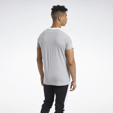 Men Fitness & Training Grey Training Essentials Linear Logo Graphic Tee