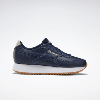 Women Classics Blue Reebok Royal Glide Ripple Shoes