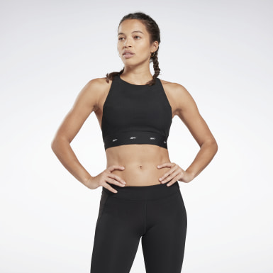 Bra Combat Mesh Medium-Impact Nero Donna Fitness & Training
