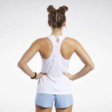 Camiseta sin mangas Reebok CrossFit® Blanco Mujer Cross Training