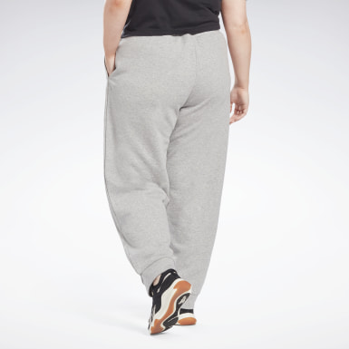 Pantalon Reebok Identity French Terry (Grande taille) Gris Femmes Fitness & Training