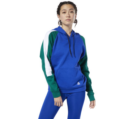Women Training Blue Workout Ready Colorblocked Cover-Up