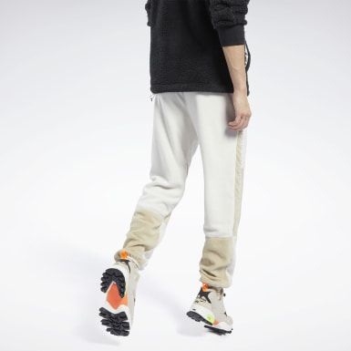 Men Classics White Classics Winter Escape Fleece Pants