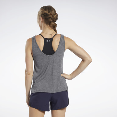 Dames Fitness & Training Zwart ACTIVCHILL+COTTON Graphic Tanktop