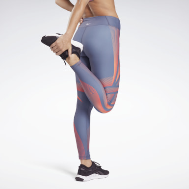 Women Studio Blue Lux Bold High-Rise Warp Speed 2 Leggings