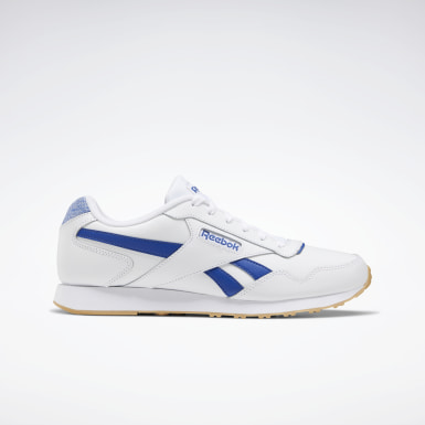 Men Classics White Reebok Royal Glide Lux Shoes