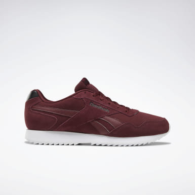 Men Classics Red Reebok Royal Glide Ripple Shoes