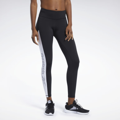 Women Fitness & Training Black Workout Ready Logo Tights