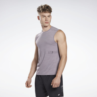 Men Studio Grey LES MILLS® ACTIVCHILL Sleeveless Tee