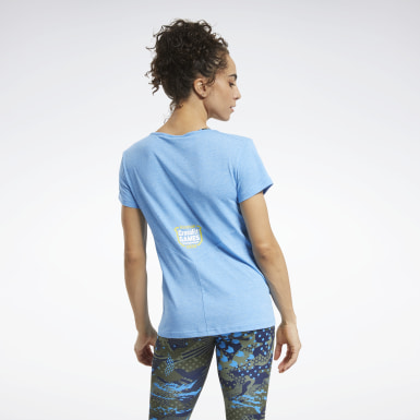 Women Cross Training Blue Reebok CrossFit® Games ACTIVCHILL+COTTON Tee