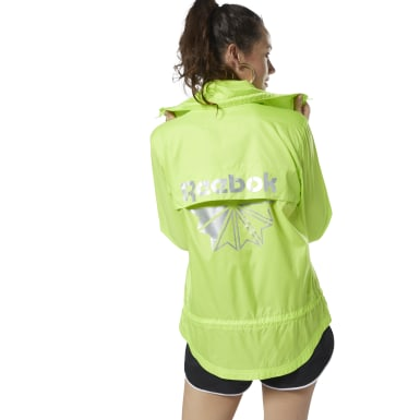 Women Classics Green Classics Graphic Windbreaker