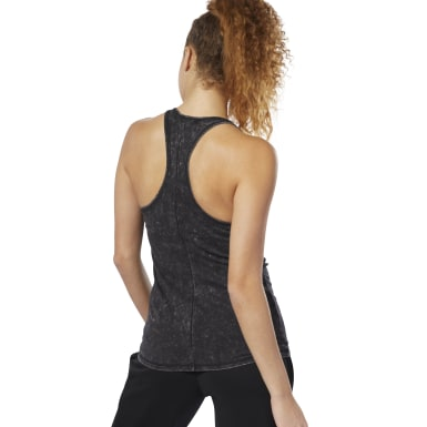 Women Studio Black Dance Washed Tank