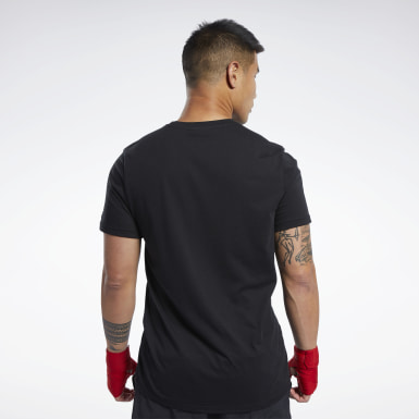 Men Fitness & Training Black Combat Boxing Tee