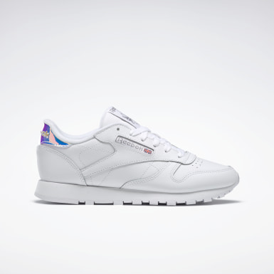 Women Classics White CL LEATHER MU