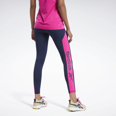 Mallas Workout Ready Logo Azul Mujer Fitness & Training