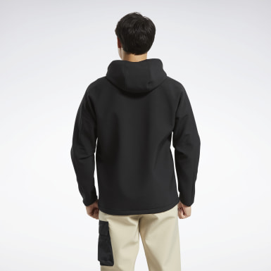 Men Hiking Black Edgeworks Quarter-Zip Anorak