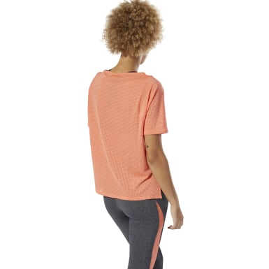 Women Training Pink Perforated Tee