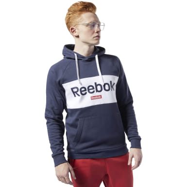 Bluza Training Essentials Linear Logo Hoodie Niebieski