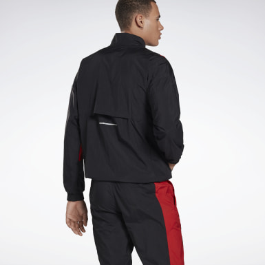 Men Running Black Heritage Run Track Jacket