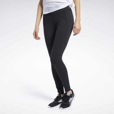 Mallas Lux 2.0 - Corte Medio Negro Mujer Fitness & Training
