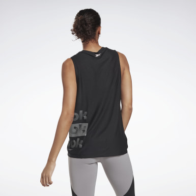 Women Studio Black Studio Graphic Muscle Tank Top - High Intensity