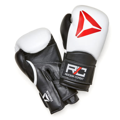 Boxing White Combat Leather Glove White