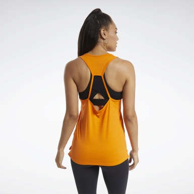 Women Montanhismo Orange ACTIVCHILL Athletic Tank Top