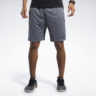 Men Hiking Grey Workout Ready Shorts