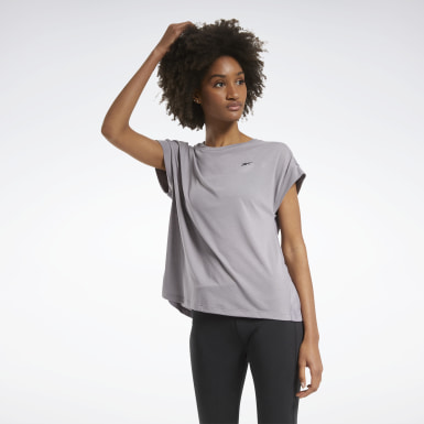 Women Cross Training Grey Workout Ready Supremium Detail Tee
